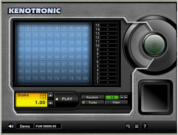 Kenotronic free keno game