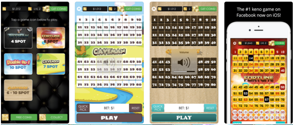 Keno Empire Game app features