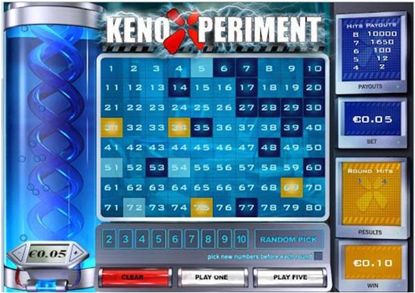 Top three Keno games at Casino.com Canada - Keno Xperiment