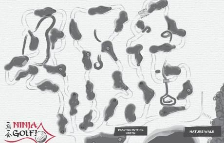 Map of Ninja Golf Course