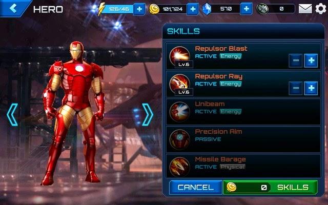 Level up a superhero's skill