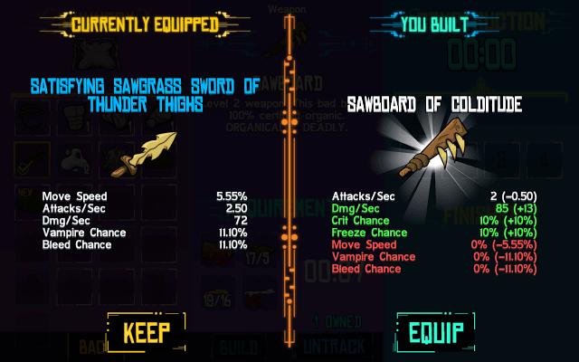 Item Comparison Screen
