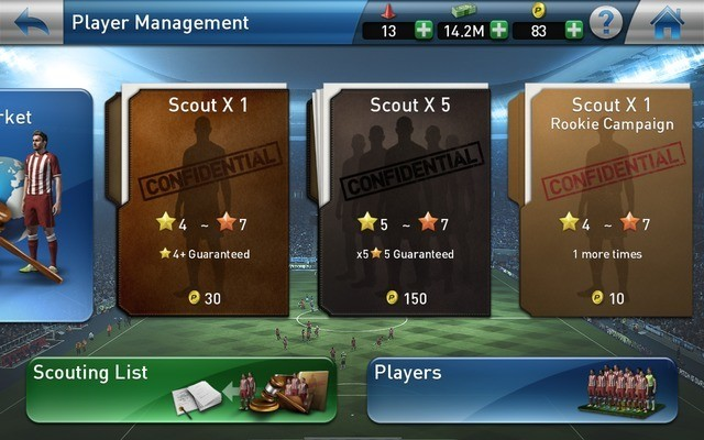 Scout players under player management