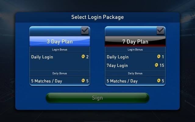 Select login package