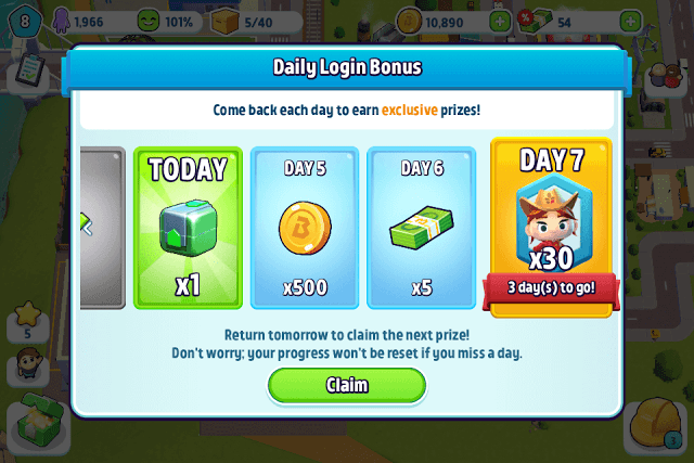 Get Tokens from Daily Rewards