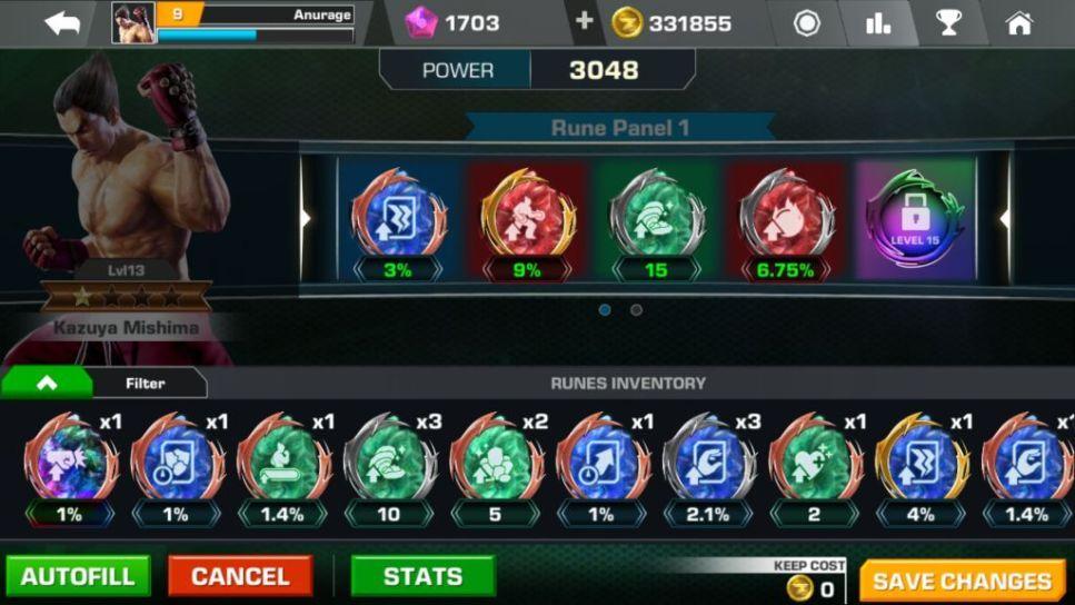 Tekken Mobile: Runes