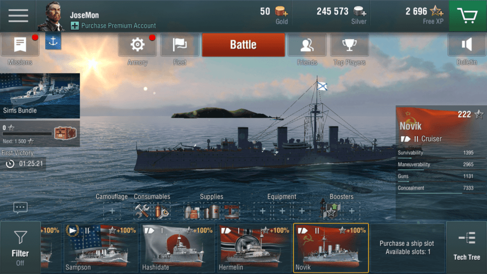World of Warships Blitz - Controls and UI