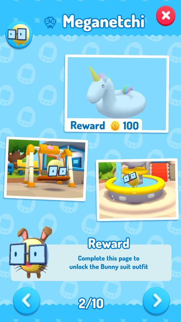 Place Items in Tamatown to unlock new pics