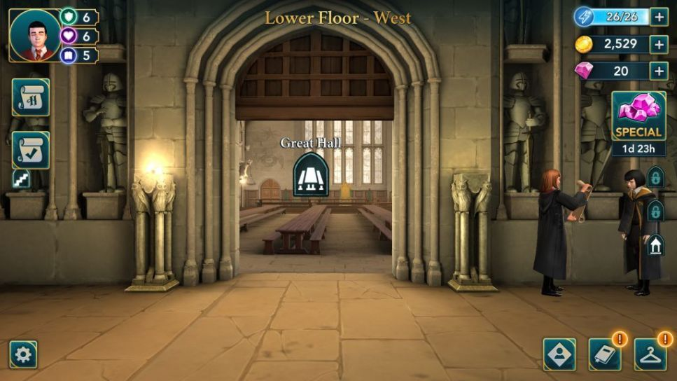 Secret Places to get Energy in Harry Potter Hogwarts Mystery - The Great Hall