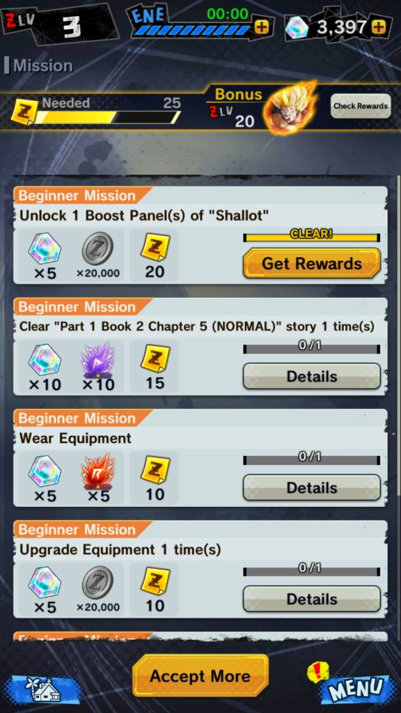 Complete Missions to get Crystals