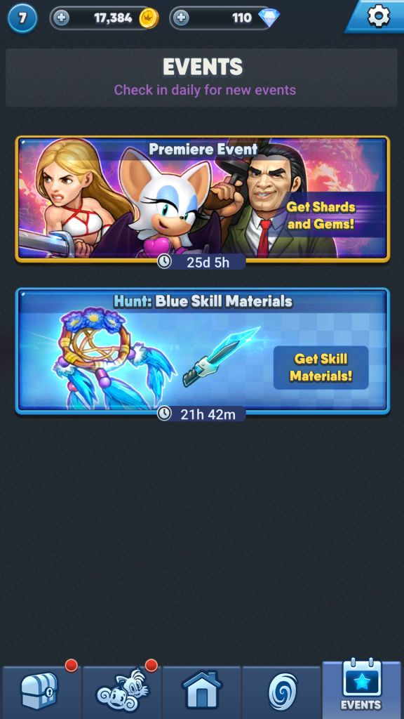 Play Events Stages to Get Characters