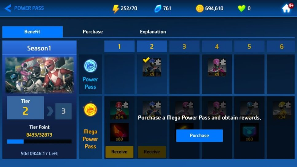 Reach Higher Tier to Get Character Pieces