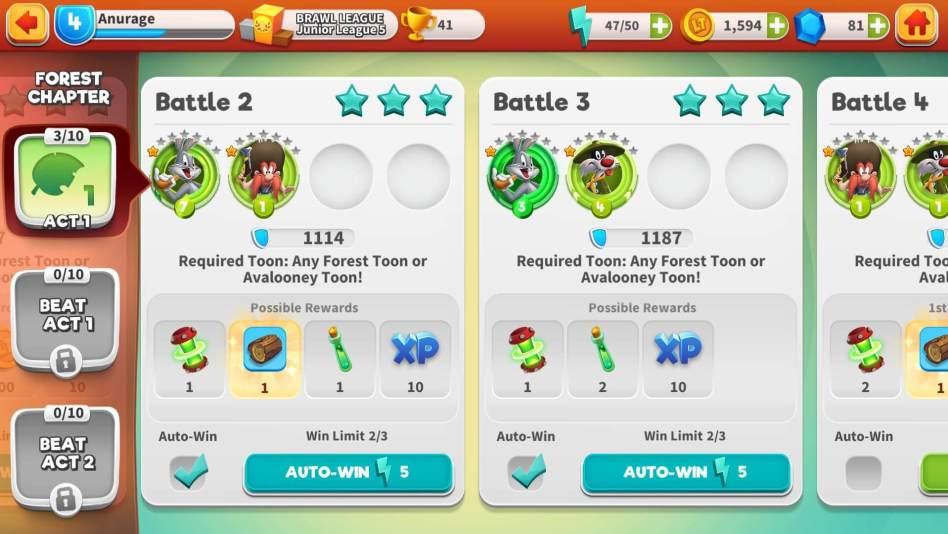 Auto Win to farm Rewards