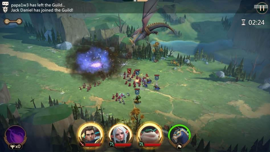 Dragon Skill in Mobile Royale