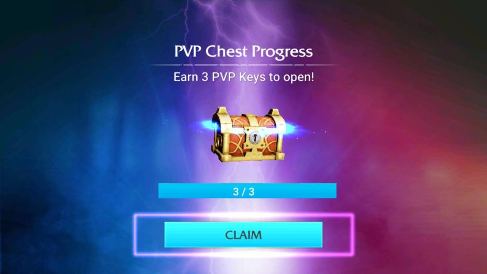 PvP chest Contains Fragments