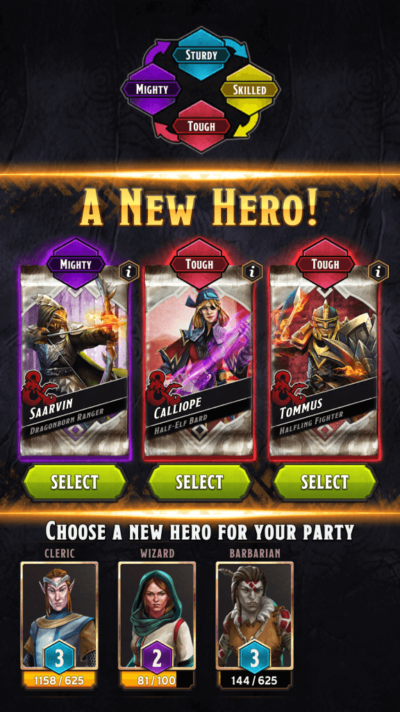 Get new Hero Card after Reaching a New Renown Level