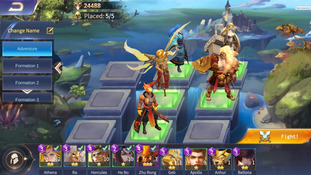 Place more Gods in team formation screen