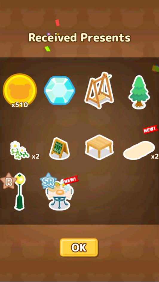 Big present box contains a lot of decor and coins