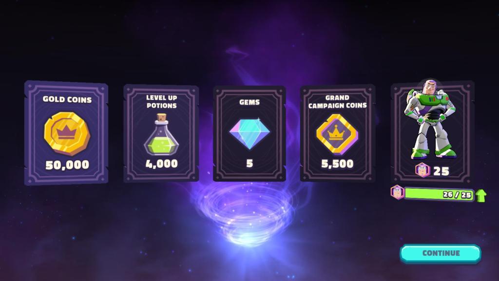 Prize chest rewards