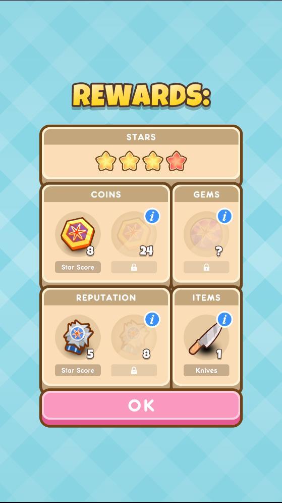 Item Rewards in Cooking Levels