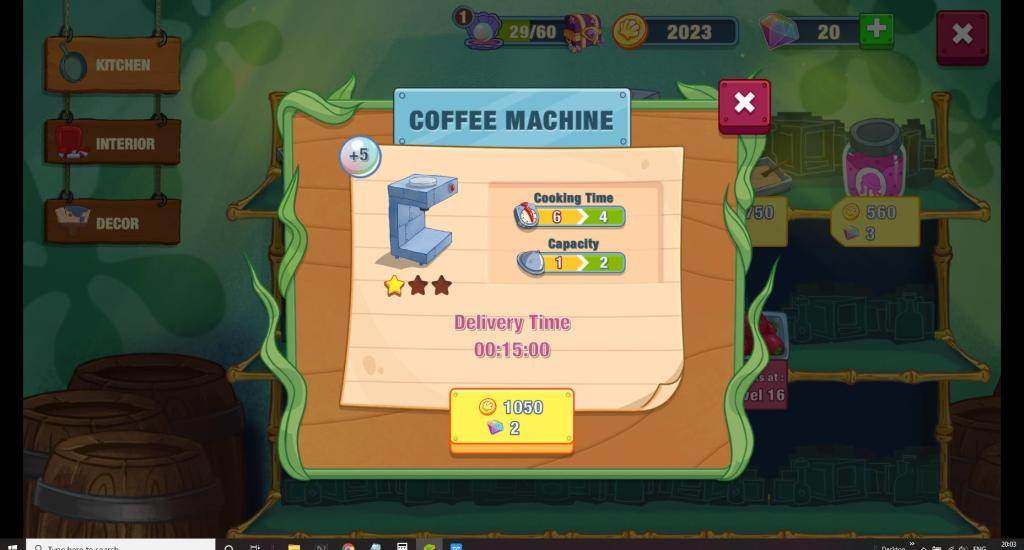 Upgrade coffee machine to decrease cooking time and increase capacity.