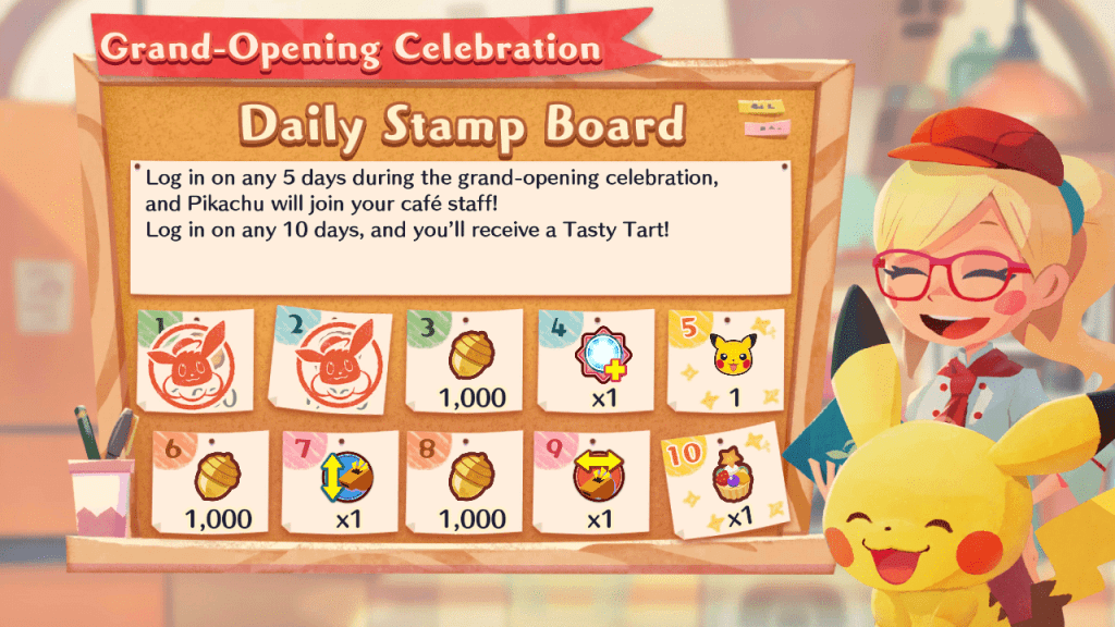 Get acorns from the daily stamp board.