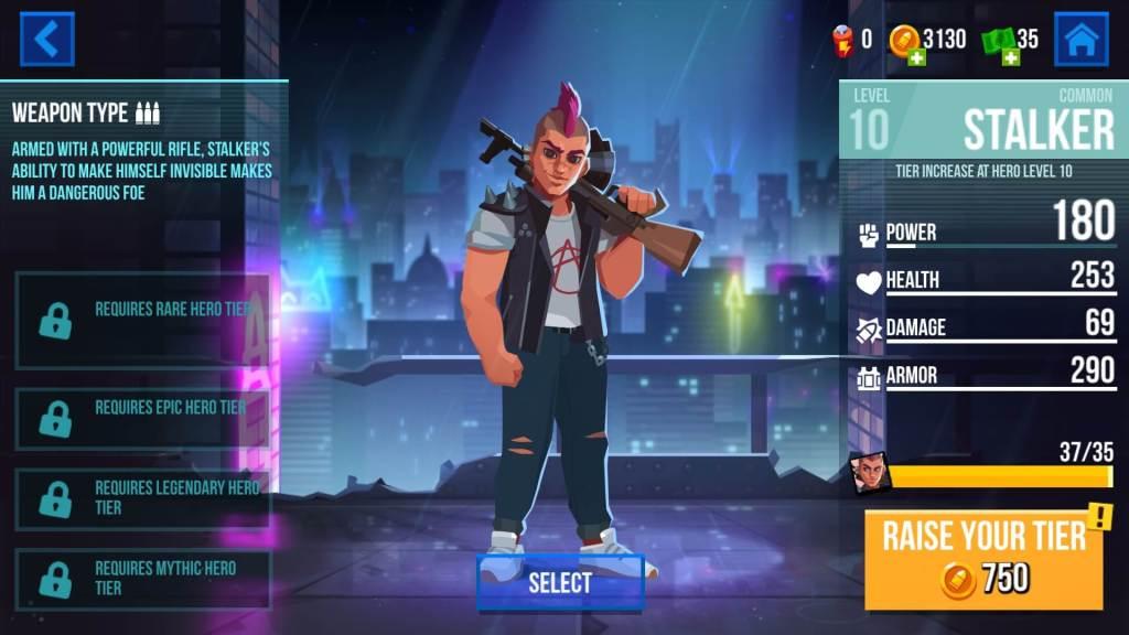 Increasing Hero Tier in Bullet Echo