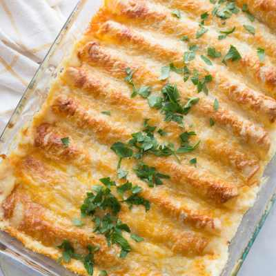 The Best White Chicken Enchiladas