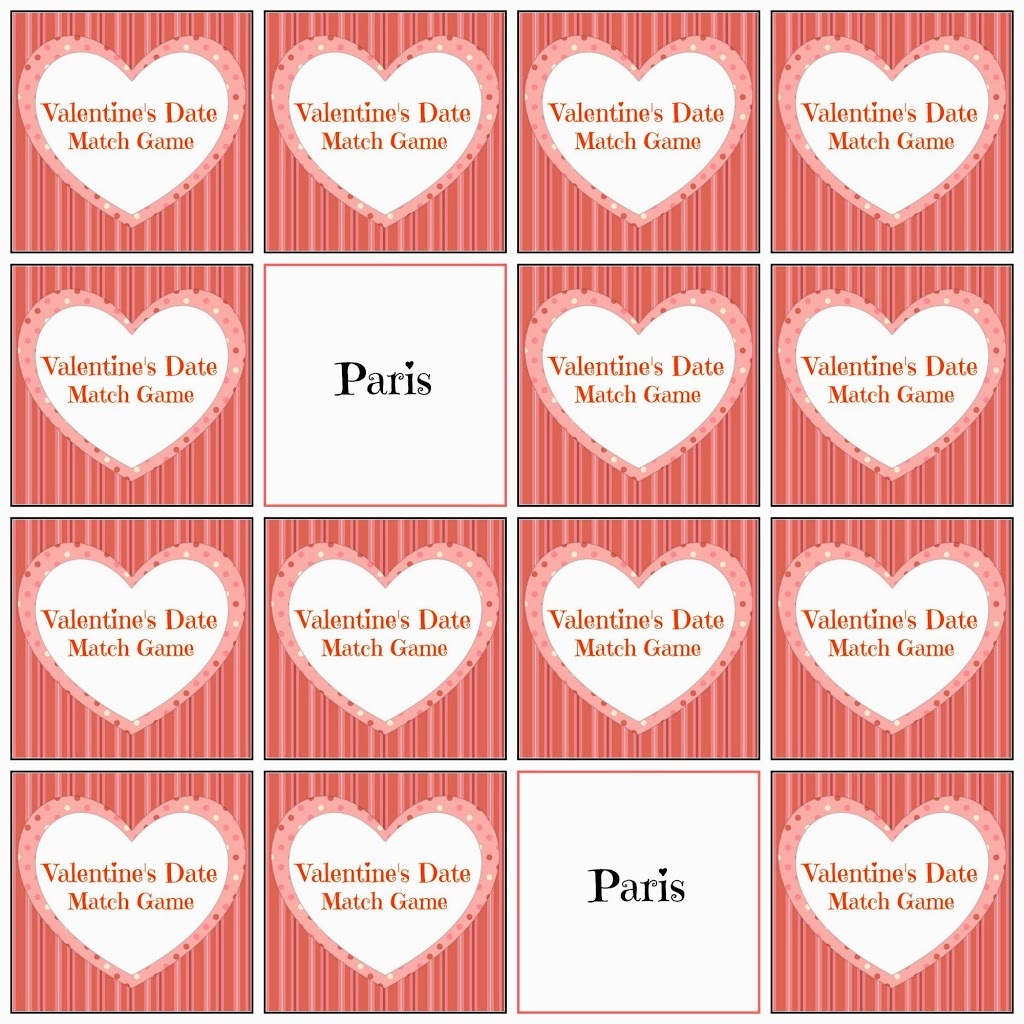 Valentine S Day Date Ideas And Match Game Blog Hop