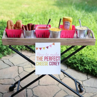 Summer Party Ideas & DIY Cheese Coney Bar