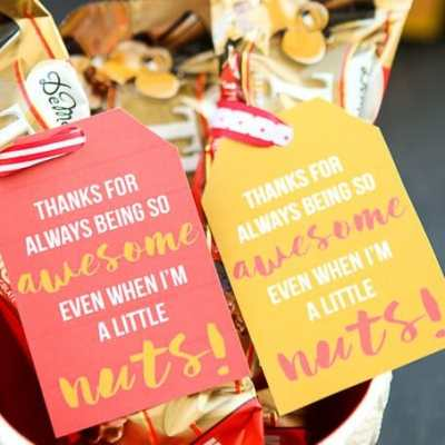 Just Because You're Awesome Gift Tags