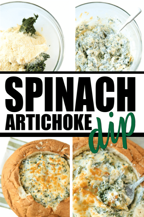 Best ever spinach and artichoke dip recipe! This delicious baked dip is super easy to make and yummy hot or cold!