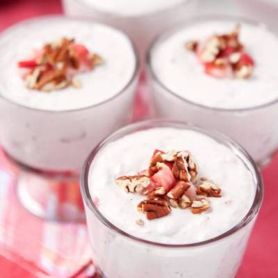 Strawberries and Cream Salad Shooters