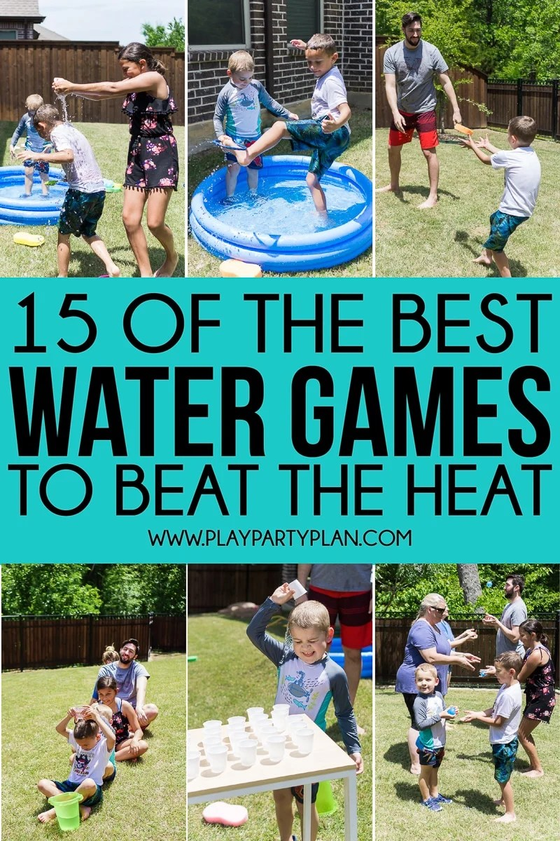 15 Best Water Games For Kids And Adults Play Party Plan
