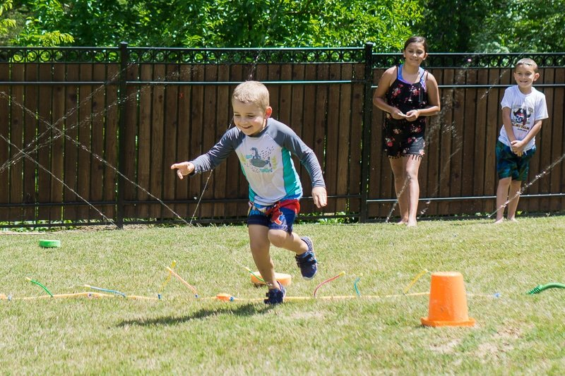 Fun water games to play in the sprinkler