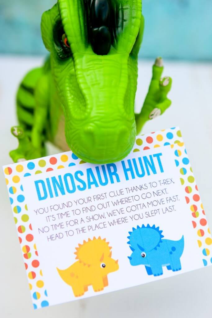 Printable Dinosaur Party Game And Scavenger Hunt Play Party Plan