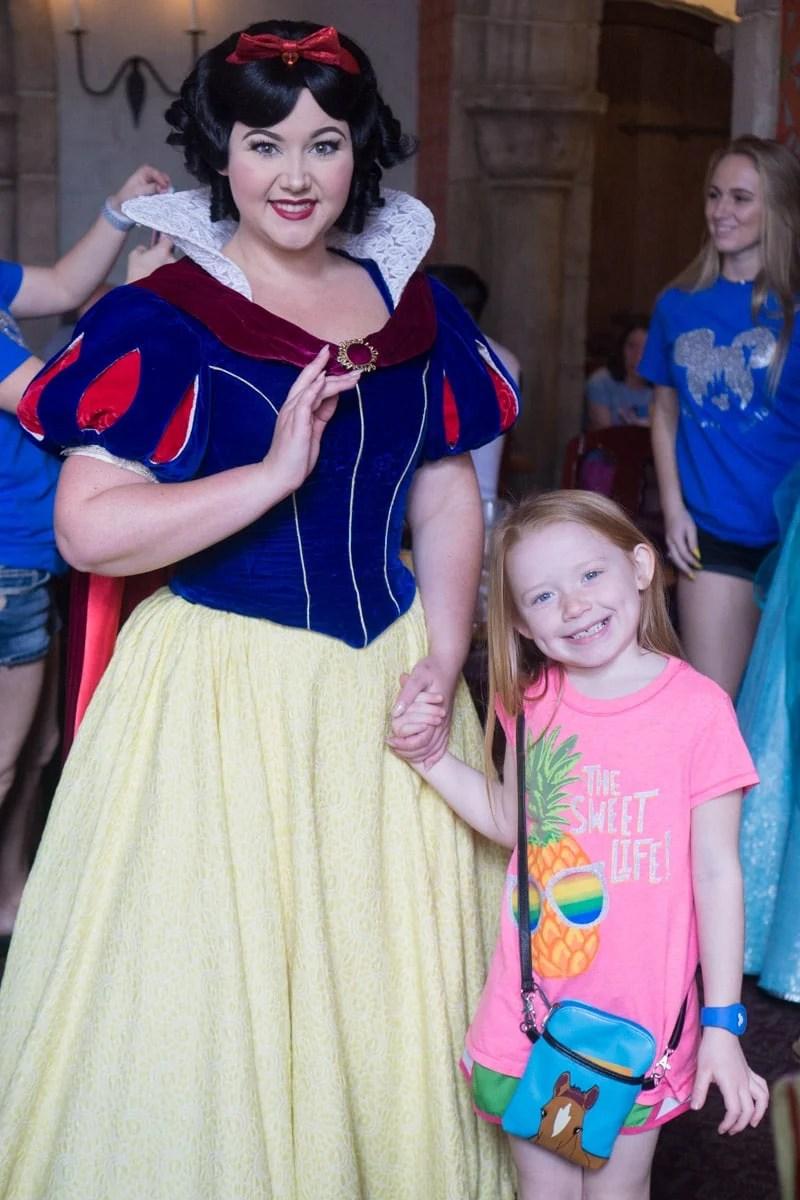 Princess character dining at Walt Disney World