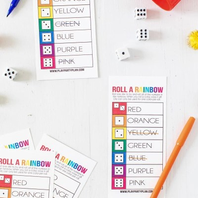 Roll a Rainbow Printable St. Patrick's Day Game