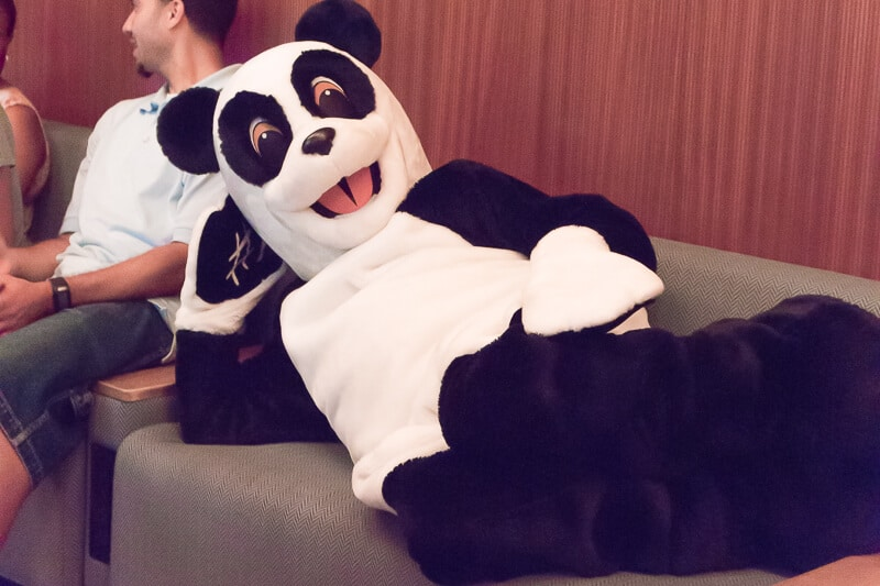 Hashtag the panda from the Tonight Show with Jimmy Fallon
