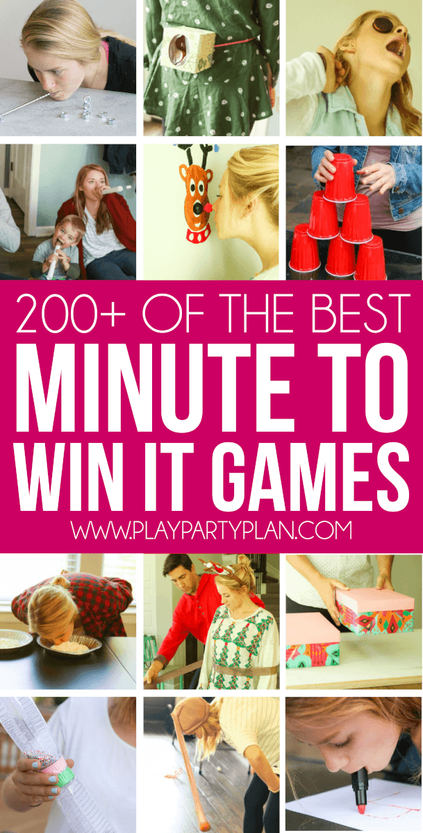 Minute to win it games for kids and adults that everyone will love