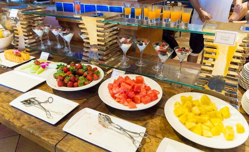 The breakfast buffet at Trattoria del Porto is delicious