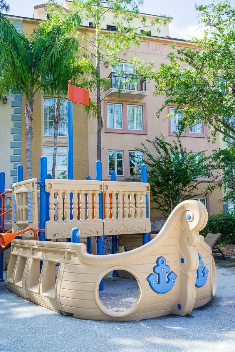 A fun play area for kids at Loews Portofino Bay Hotel