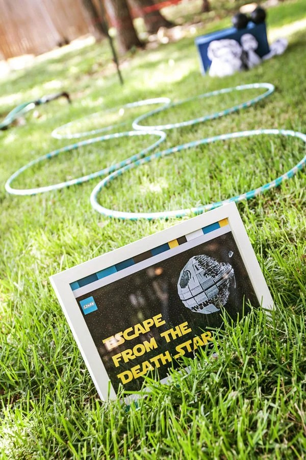 Escape the death star Star Wars party games