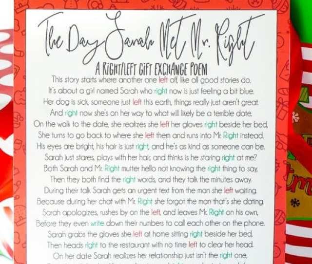 The Best Christmas Gift Exchange Poem