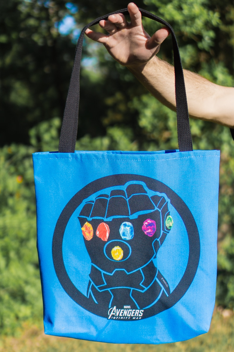 Infinity Gauntlet bag purchased with a CafePress coupon code