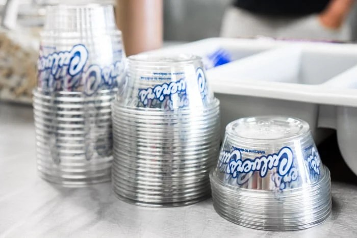 Cups for Culver's Flavor of the Day frozen custard