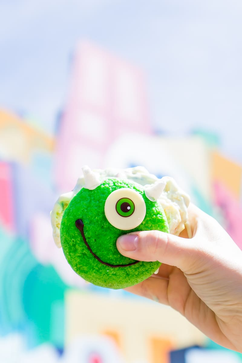 The Mike Wazowski whoopie pie is a must try at Pixar Fest