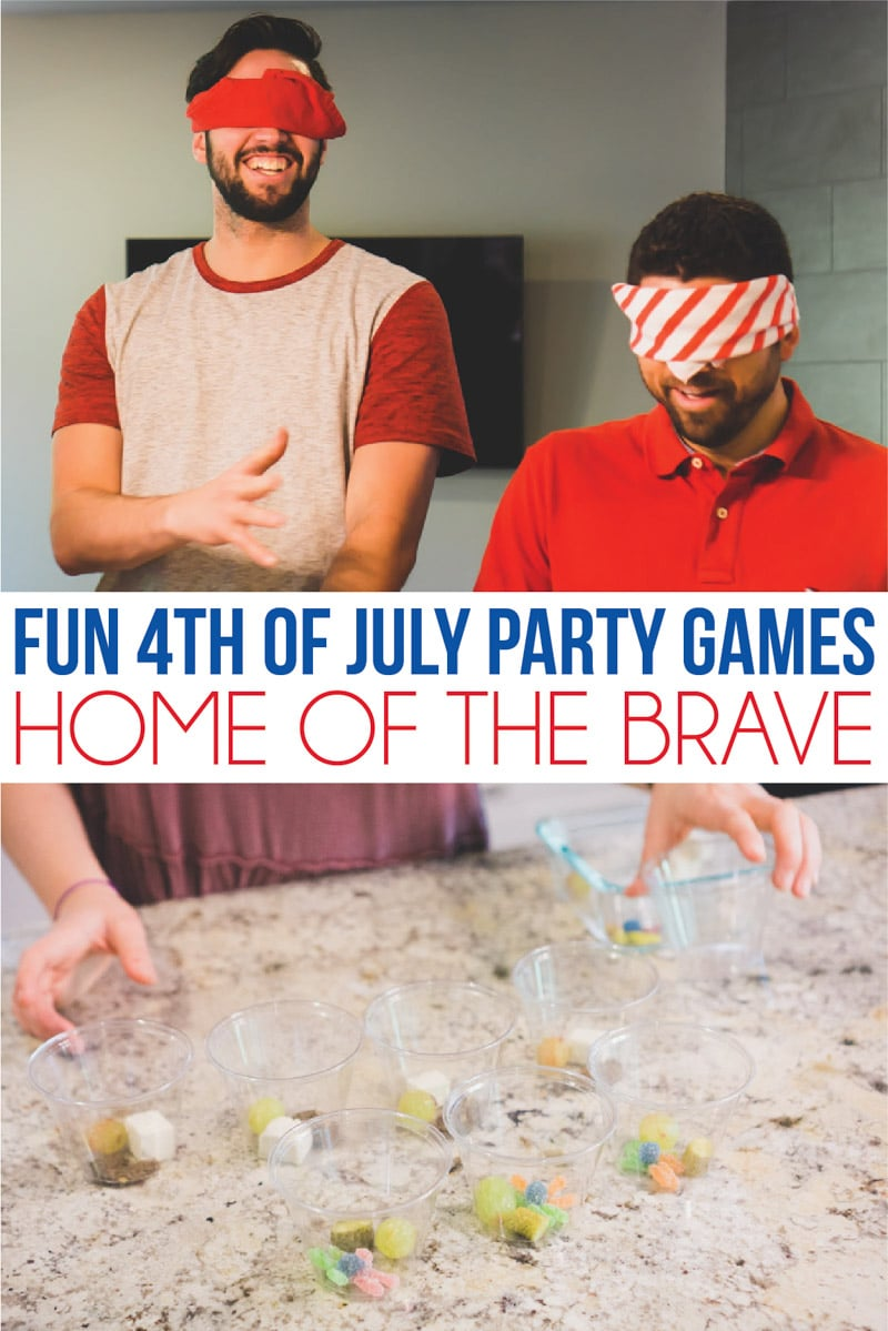Eating food in one of the best 4th of July party games