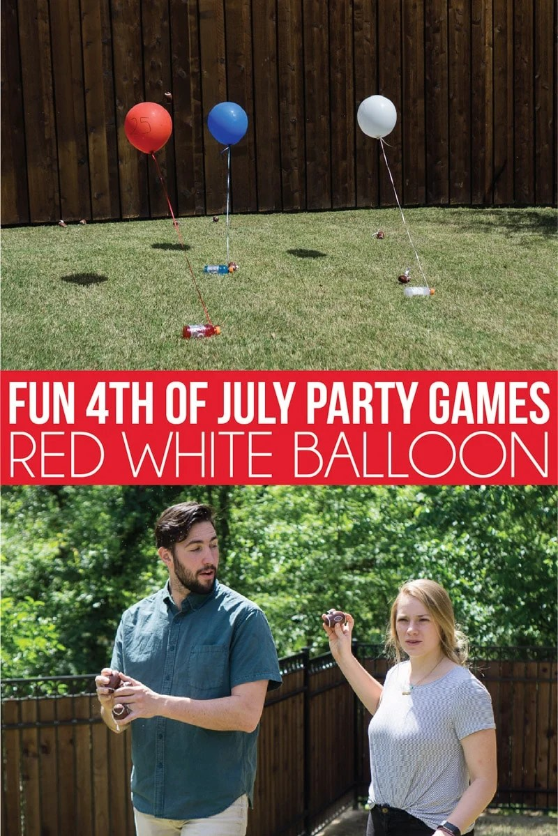 4th of July party games with balloons