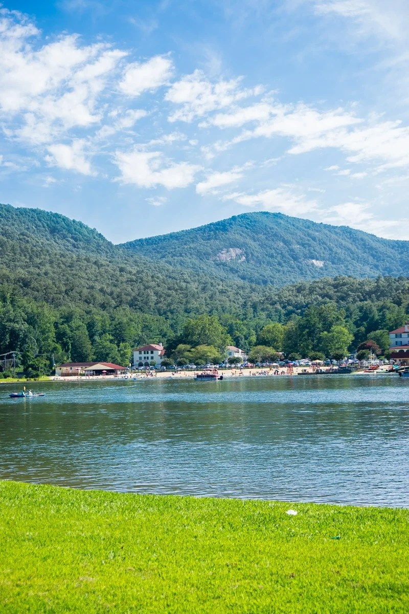 The view across Lake Lure